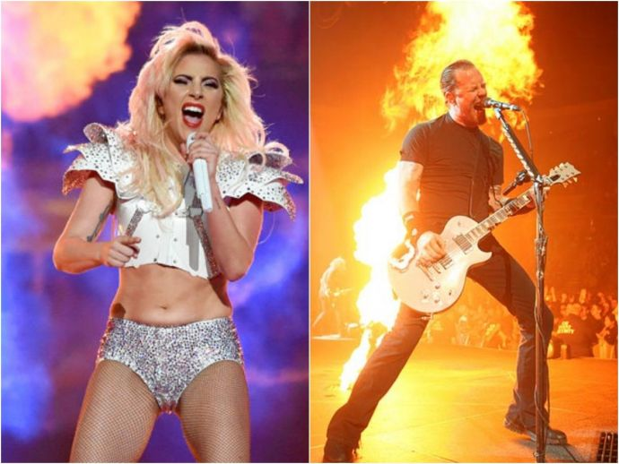 Lady Gaga, Rock, Super Bowl, metallica, grammys, awards