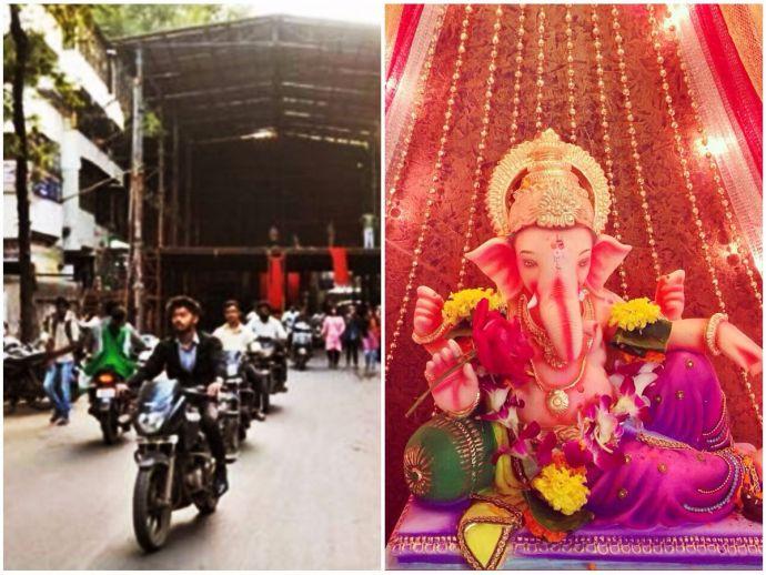 Hatti Ganpati, Sadashiv Peth, Ganesh Utsav, pune, traffic, canopy