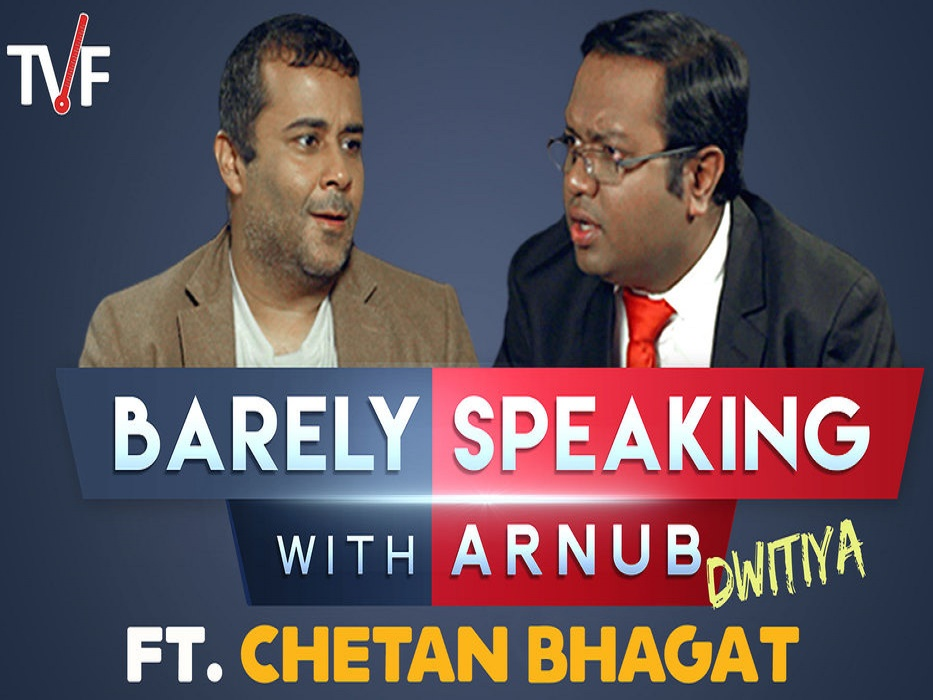 Arnub, Chetan Bhagat, Barely speaking, Theviralfever, Entertainment, Video, Series, Shahrukh Khan