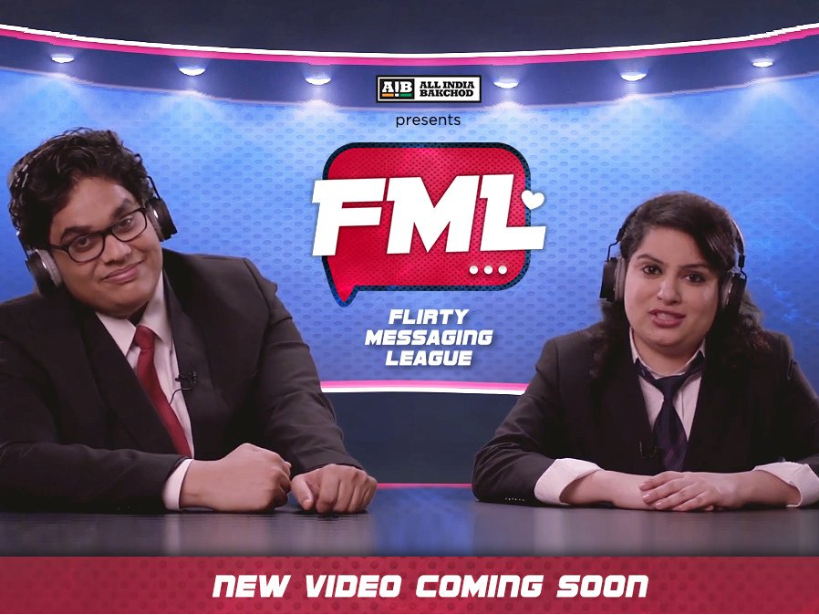 AIB, Flirty Messaging League, FML, Tanmay Bhatt, Malika Dua, YouTube, Video
