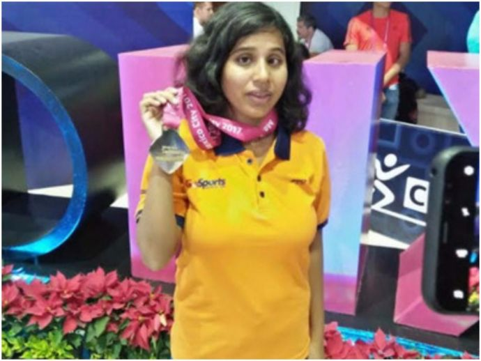 Kanchanmala, para swimming, mexico, nagpur, nagpur swimmer, visually impaired