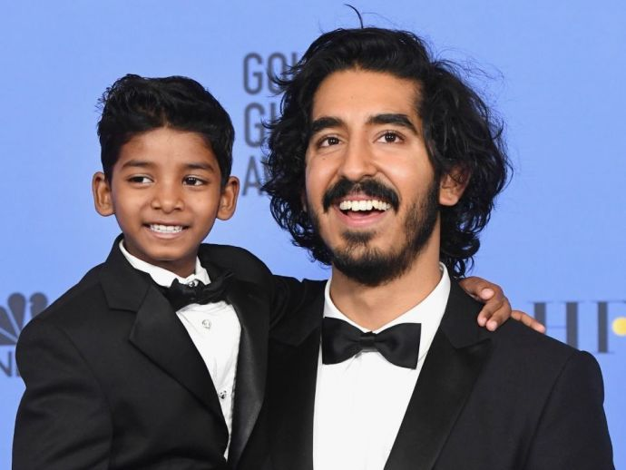 Dev Patel, Sunny pawar, Golden Globes 2017, movie, hollywood, lions, 74