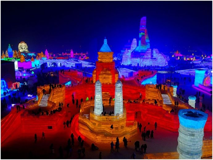 china, snow and ice festival, winter, largest snow and ice festival, Harbin Snow and Ice festival, Harbin, Heilongjiang Province, winter wonderland