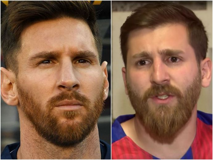 Lionel Messi, doppelganger, Barcelona, Argentina, Ronaldo, Football, Europa, Premiere ;eague, Iran, Messi Look like, Reza Parastesh, Barcelona superstar, Hamedan, Iranian Lionel Messi