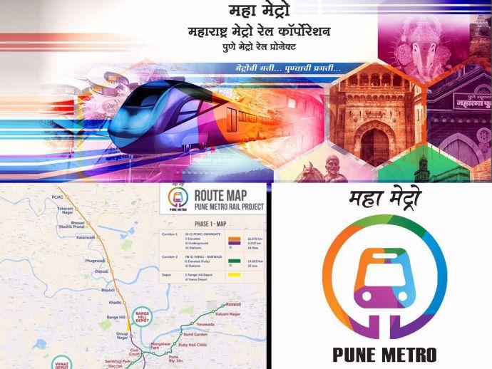 Pune Metro, Metro Phase 1, Pune, Metro map, Pune Metro Rail