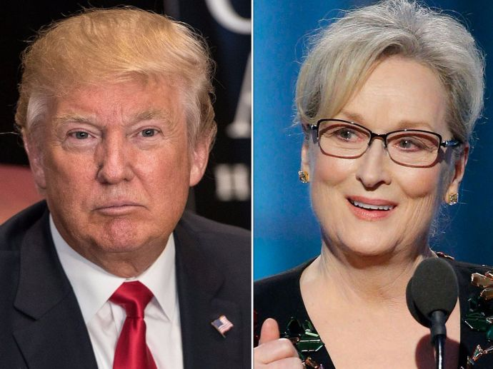 Donald Trump, Meryl Streep, Golden Globes Award