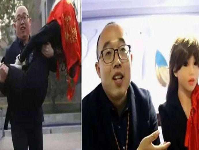 Chinese Engineer, Marries Robot, Zheng, robot, china, engineer, love, marriage, relationship