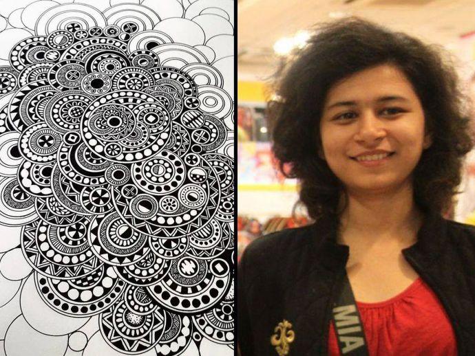 Pune's Artist, Les mandala nature, Rustica edition, Pune, Kesar Khinvasara, mandala, sketching, indian, artwork