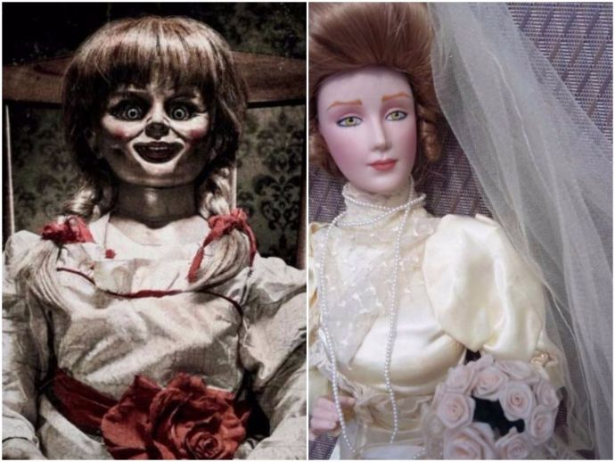 Paranormal researcher, Annabelle, UK, Doll, horror, movie, possessed doll, eBay, ghost