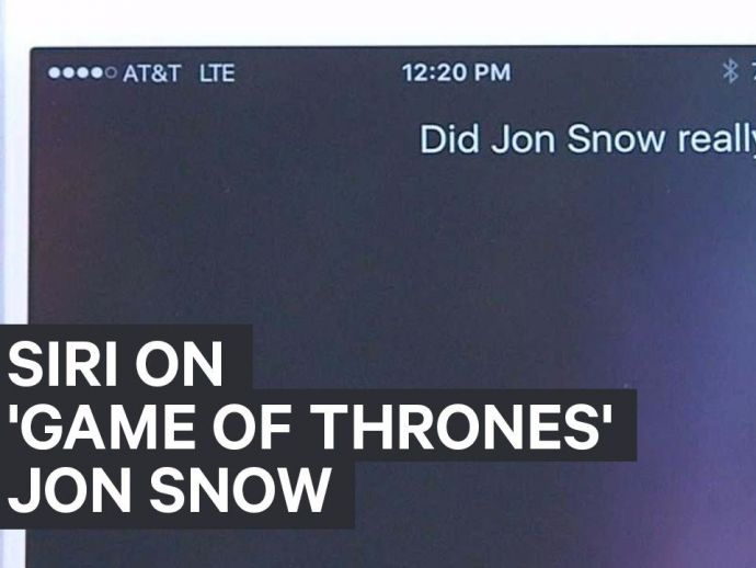 Siri, AI, Game of Thrones, series, questions