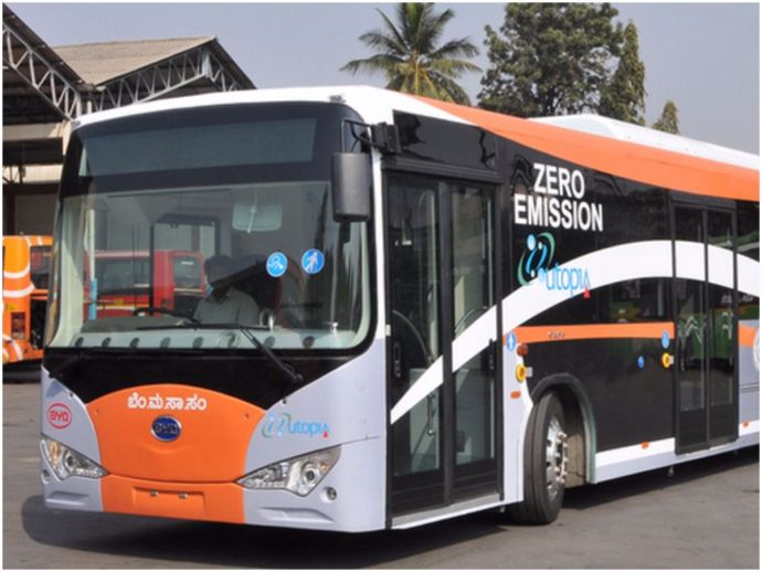 Bangalore, BMTC, Electric Bus, Karnataka, Clean Transport, Eco Friendly
