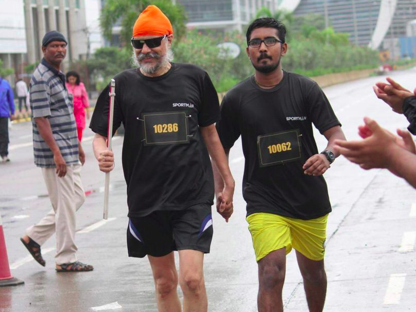 Visually-impaired, Sporty Sikh, Marathon race, National Ophthalmology Institute (NOI), Macular Degeneration, Dolma La Pass