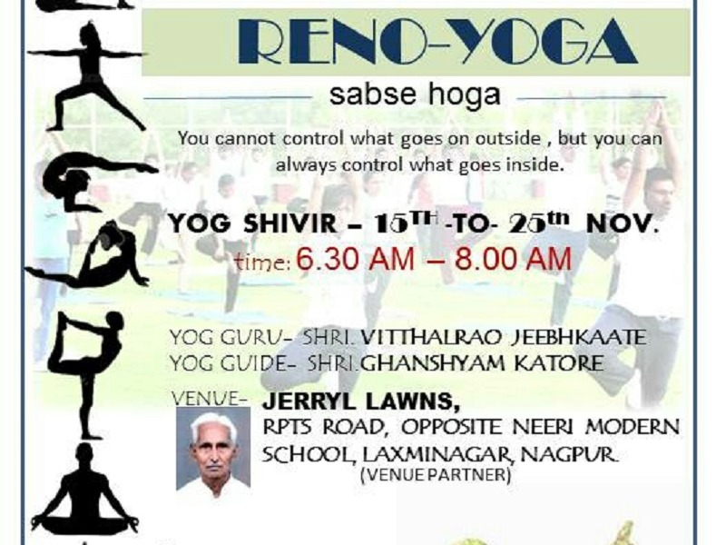 Renovatio, Nagpur, Yog, Reno-Yoga, Shivir, Free