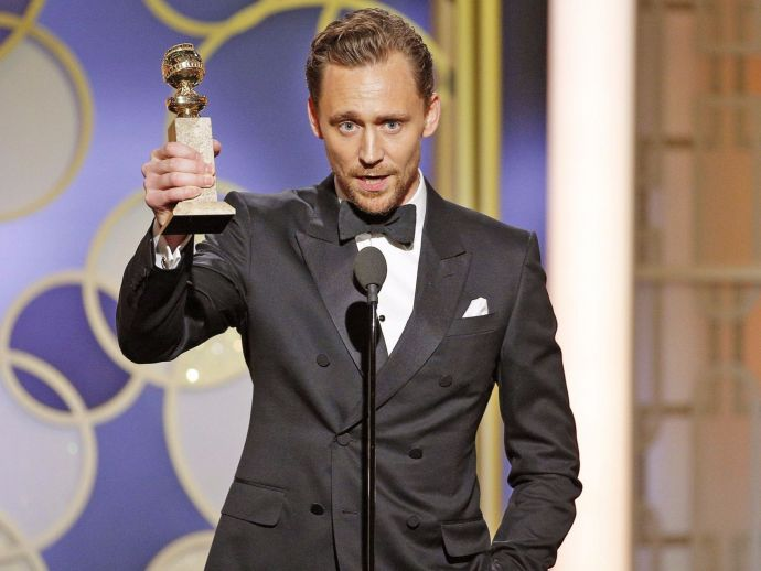 Tom Hiddleston, the night manager, golden globes, south sudan, UNICEF