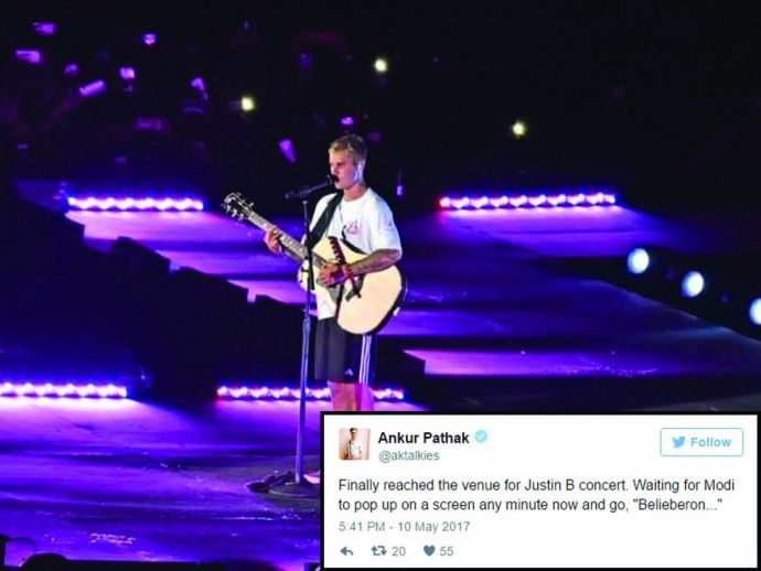 justin bieber, purpose world tour, india, dy patil stadium, mumbai, twitter, reactions, comments, trolls, funny