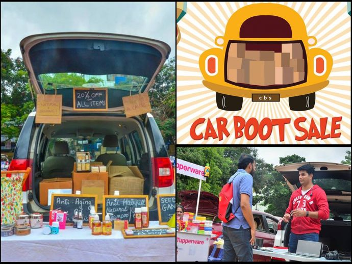 Car boot sale, Bengaluru, Bangalore, shopping, open exhibition, trade, UK, household, recycle