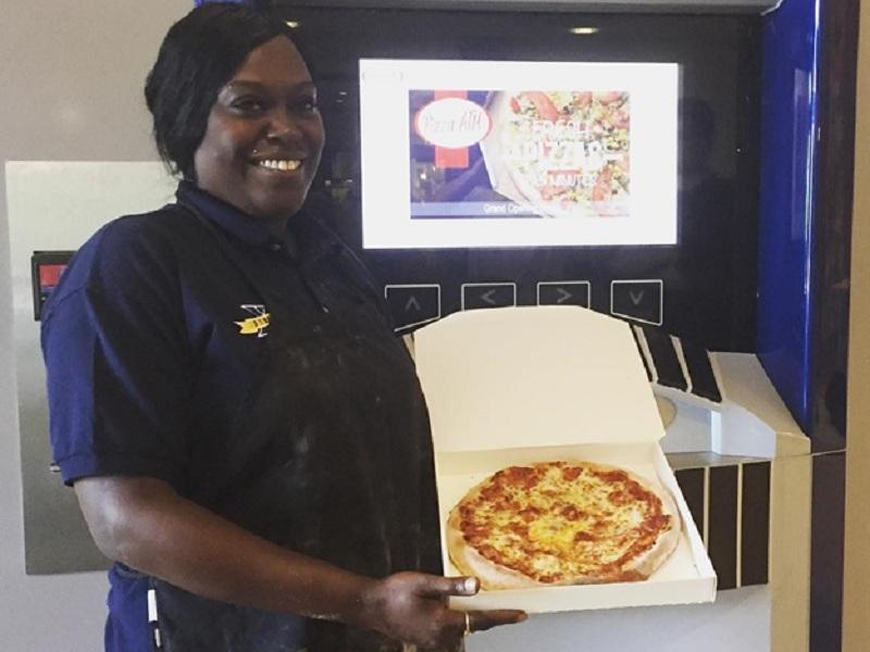 Pizza Vending Machine, US, Pizza Machine, Pizza, India, Machine Made Pizza, Food ATM, Pizza ATM