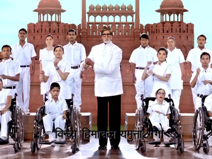 Amitabh Bachchan, Sings National Anthem, National Anthem, sign language, Disabled Kids, physically challenged, divyangjans, PM Modi, Narendra modi, bollywood