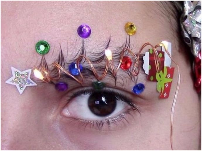 christmas, festive season, holidays, christmas tree brows, beauty, fashion, tattay_xx