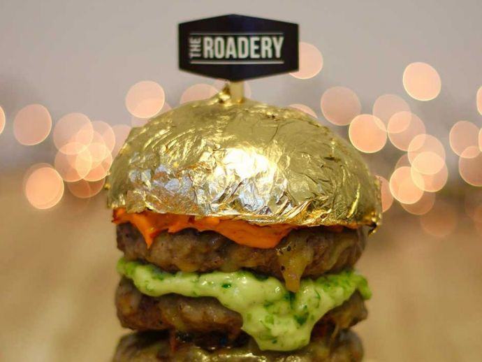 Gold Burger, Indian Rupee, 24-karat, Burger, Dubai Food Festival, Dubai, Burg Khalifa, Downtown Dubai, USA, UAE, SINGAPOR, DXB
