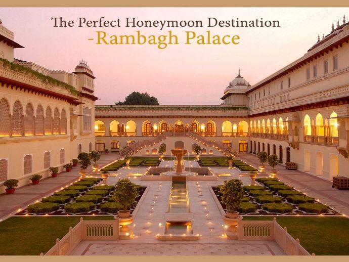 Rambagh Palace, Jaipur, Honeymoon, Honeymoon destination, Hotel Taj, Taj Group, GoAir, indiGo