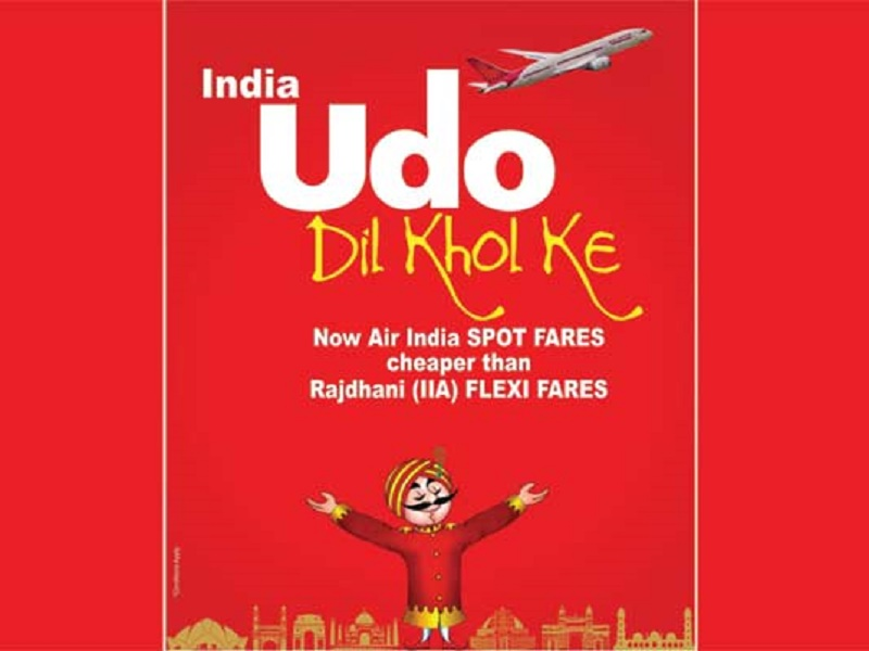 Air India, Clever Jab At Railways, Flexi Fare, Udo Dil Khol Ke, Rajdhani Express, September 30