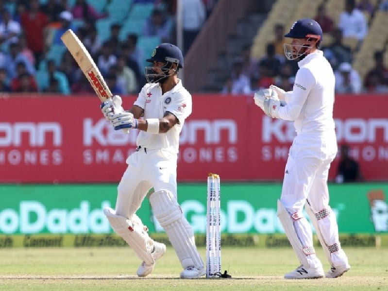 Virat Kohli, Cricket, hit-Wicket, India, England, fourth day, first test, Adil Rashid, Rajkot
