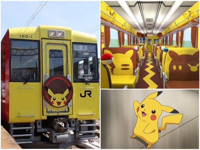 Pokemon, Pikachu, Pokemon train, Japan, Tokyo, Japan train, Cartoon train