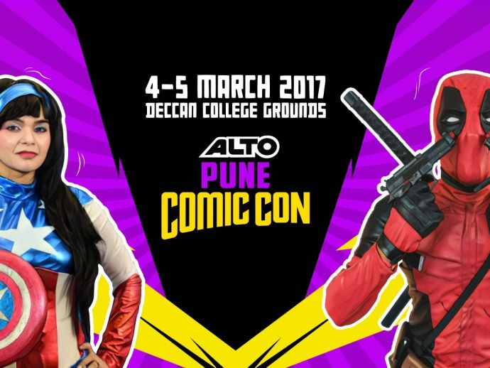 Comic Con, Pune 2017, March 4 and 5, Deccan College Convention Hall Pune., David Lloyd, Alan Moore, Kavita Kataria, Anant Pai, Amar Chitra Katha, Abhijit Kini, Angry Maushi