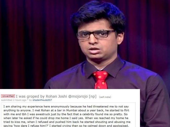 TVF, Arunabh Kumar, AIB, Rohan Joshi, AIB Co-Founder Rohan Joshi, Molestation, girl, reddit