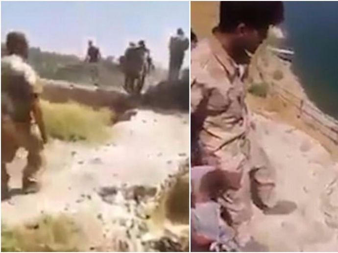 shosck, dread, footage, video, film, Iraq, ISIS, government, investigation, troop, suspect, Islamic, militants, cliff, torture, death, war, crimes