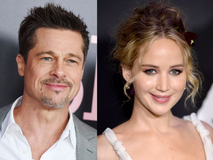 Brad Pitt, Jennifer Lawrence, Hollywood, actor, actress, date, love, couple, rumor, stars, life, love life, speculation, allegation