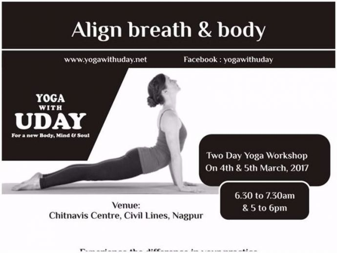 Align breath and body, Yoga with Uday, Nagpur