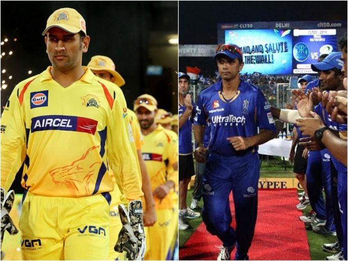 IPL, CSK, RR, Cricket, MS Dhoni, Rahul Dravid
