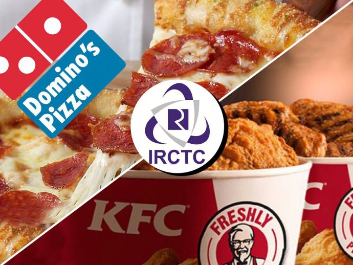 IRCTC, Domino's, KFC, McDonald's, train, food, journey, railway, india, rajdhani, shatabdi