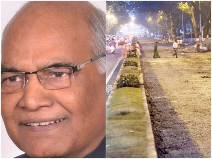 Nagpur, NMC, Repaving damaged roads, Ramnath Kovind, President's maiden visit to Nagpur, Potholes