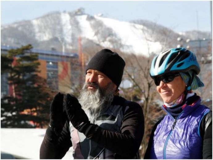 cycle, cycling, world, travel, adventure, south korea, winter olympics, Pyeongchang, freestyle skiing, switzerland, zurich, couple, 17000kms, 20 countries