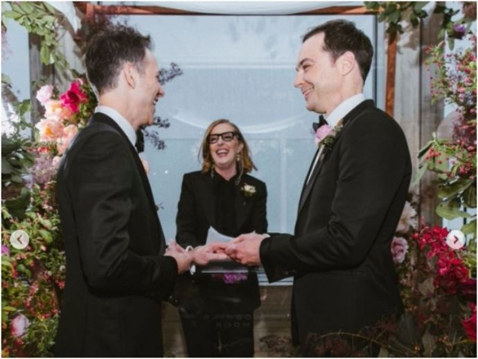 Jim Parsons, Todd Spiewak, Wedding, Pictures, Adorable, Rainbow Room restaurant, Rockefeller Plaza, New York, The Big Bang Theory