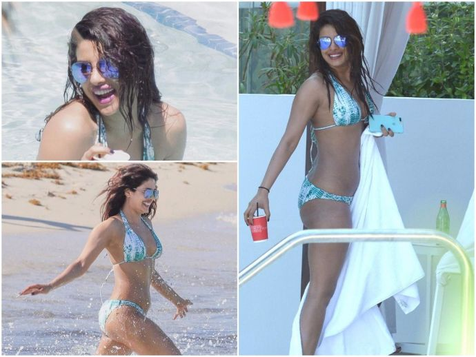 Priyanka Chopra, Miami Beach, Bikini Avatar, Bikini, baywatch, sexy bikini, Priyanka Chopra Miami Beach, Priyanka Chopra Latest, Model Adriana Lima, Priyanka Chopra In Bikini