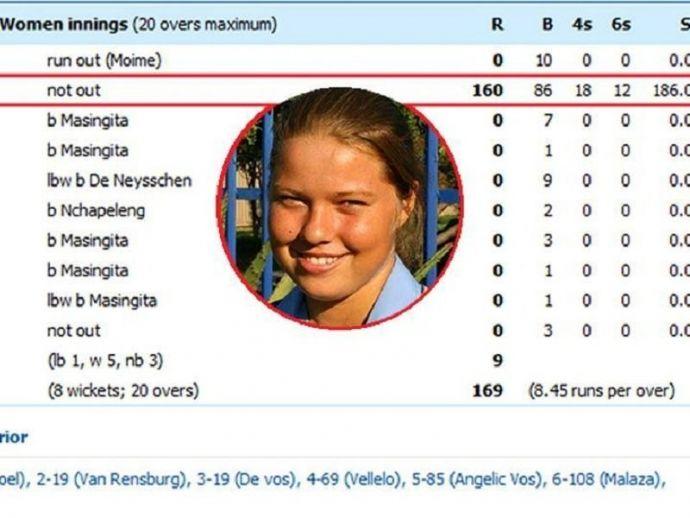 duck, cricket, sport, century, bizarre, Shania Lee-Swart, Mpumalanga, under 19