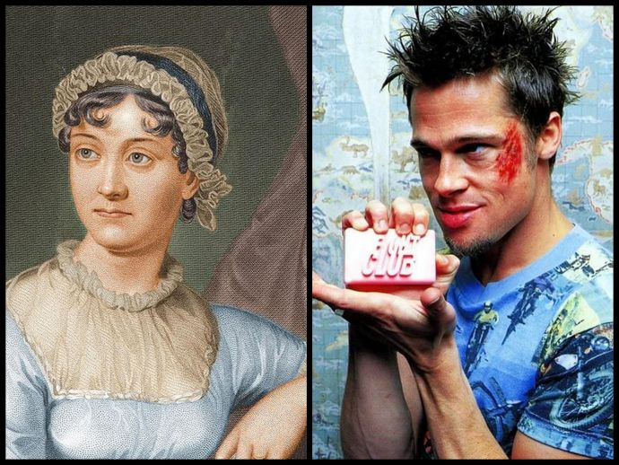 jane austen, fight club, video, birth, anniversary