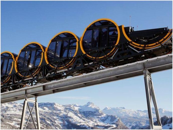 Switzerland, funicular line, world's steepest funicular line, zurich, Schywz, Stoos