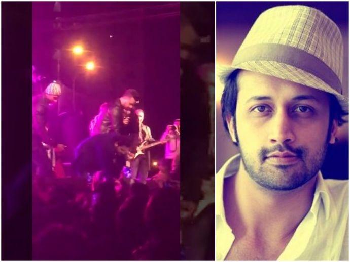 Atif aslam, harassment, karachi, concert, pehlinazar hitmaker, rescues girl