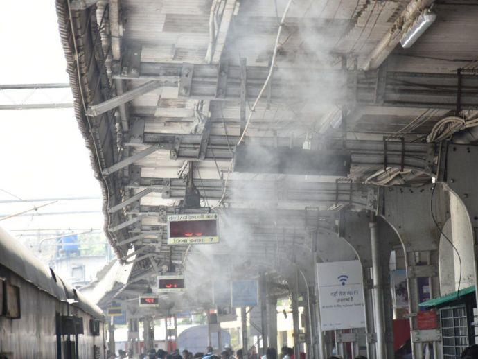 Misting Coolers, Nagpur Railway, Nagpur, heat