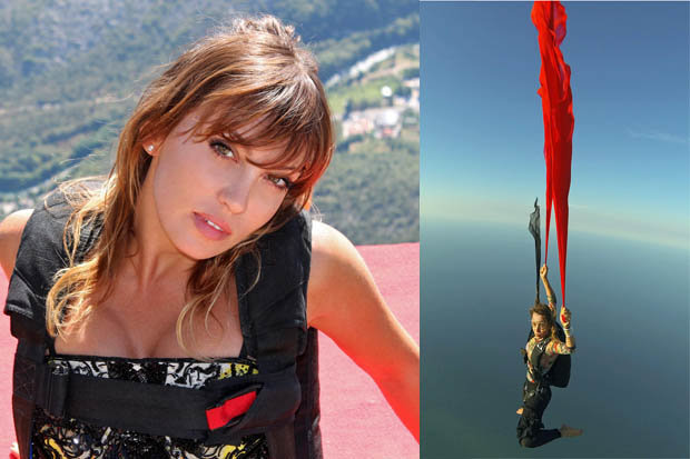 The Italian skydiver, BASE jumper, Roberta Mancino, Mancino, Sexiest Athlete, Skydiving Over Volcano