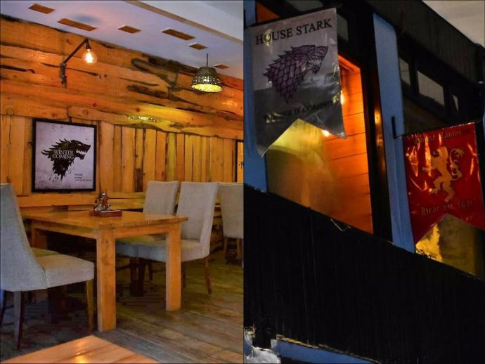 winterfell cafe, srinagar, kashmir, india, game of thrones, hbo, kamran nisar, ummar nisar, fandom, iron throne, north, jammu and kashmir, travel, food, cafe, theme, dal lake, GoT Themed Cafe In Srinagar, The Winterfell Cafe At Srinagar