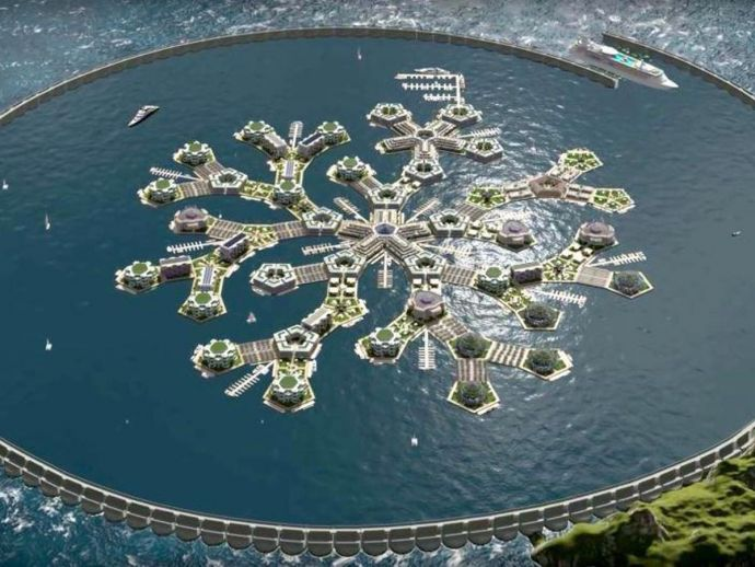 Floating City, 2020, The Seasteading Institute, Pacific Ocean, French Polynesia