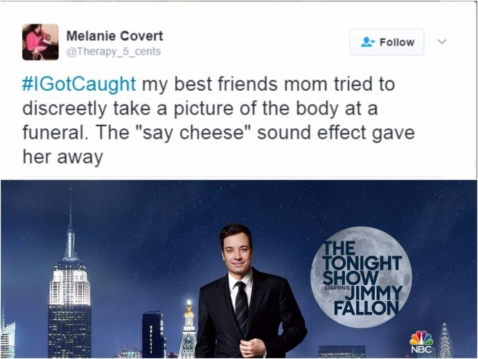 Embarrassing Tweets, 'How They Once Got Caught', Jimmy Fallon, The Tonight Show Starring Jimmy Fallon, #IGotCaught, Funniest #iGotCaught Tweets, #iGotCaught  tweets