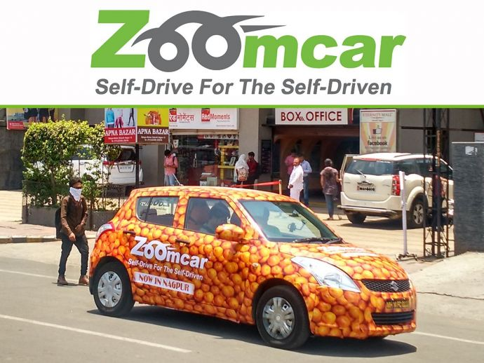 Zoomcar, Car on Rents, Hire Car, Zoomcar launch in Nagpur, May 23, Orange Car