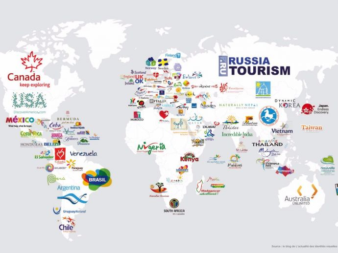 This map displays every countrys tourism slogans reacho the map which displays every countrys tourism slogans is totally spot on gumiabroncs Gallery